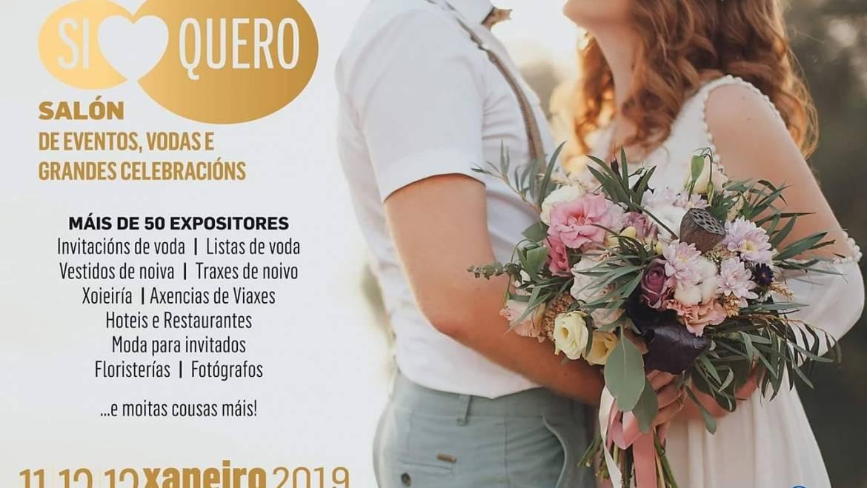 """Invitación Salón de  Bodas        """"Si Quero"""" 2019  Pontevedra"""